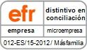 Erreese. Distintivo EFR. Fomento de la conciliación de la vida personal y profesional y la igualdad de oportunidades