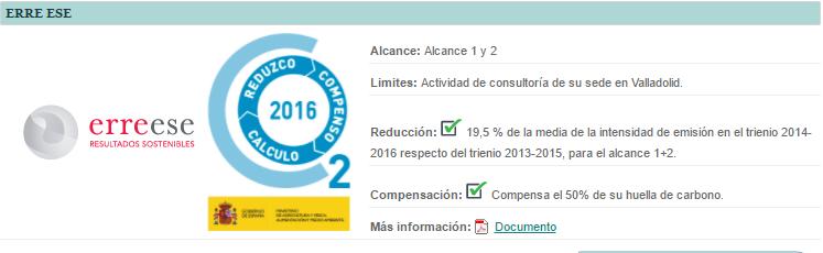 Calculo, Reduzco y Compenso, Erre Ese 2016