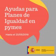 Convocatoria de subvenciones para Planes de Igualdad 2018