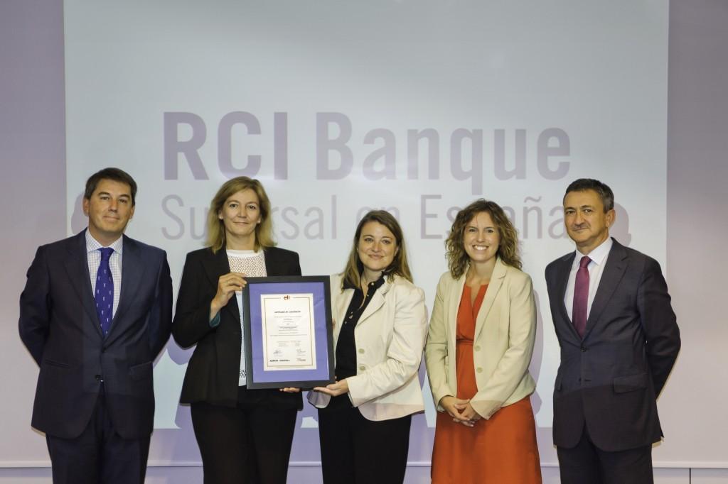 RCI Banque recibe el certificado EFR