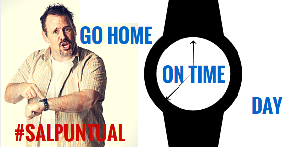 go home on time day | Erre Ese